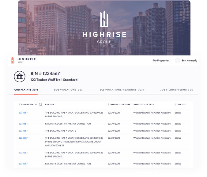 Highrise ERP for real estate