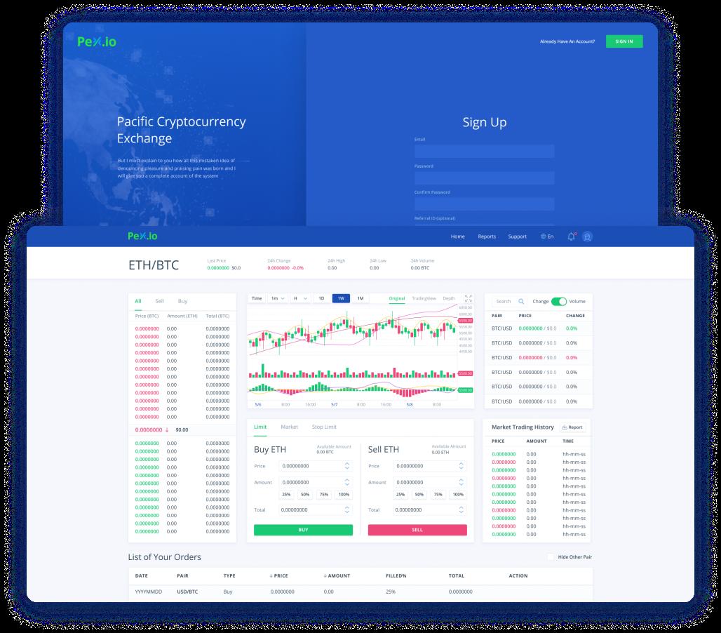 Pex trading cryptocurrency platform