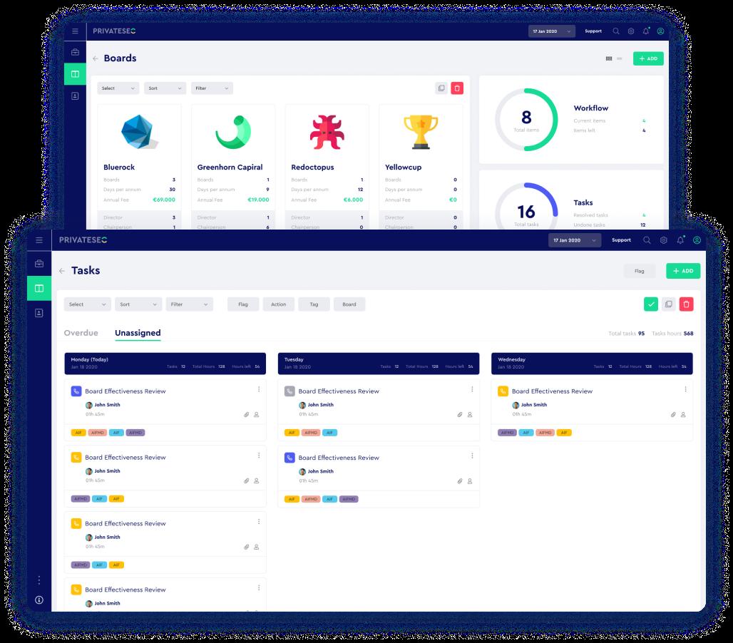 PrivateSec finance management tool